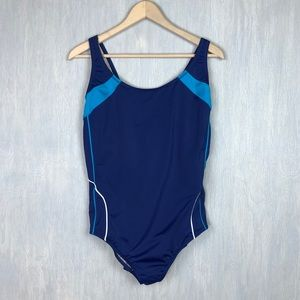 Lands End one pice swimsuit blue 20w
